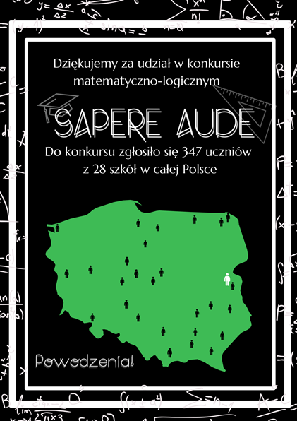 "OGÓLNOPOLSKI KONKURS MATEMATYCZNY ""SAPERE AUDE"""