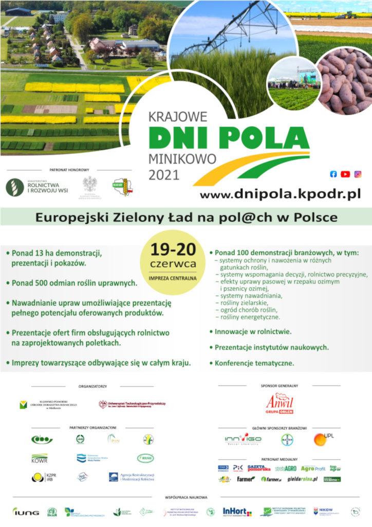 """Krajowe Dni Pola Minikowo """"Europejski Zielony Ład na pol@ch w Polsce"""""""