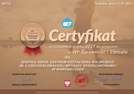 """Program """"e-WF Sprawność i Zdrowie"""" - zdjęcie"""