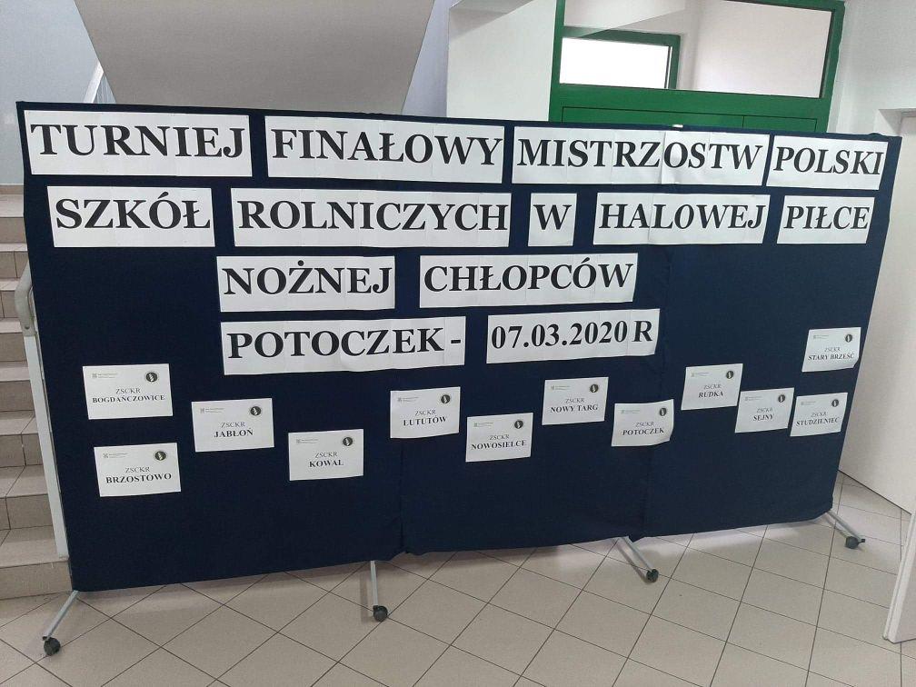 Finał Mistrzostw Polski Szkol Rolniczych w piłce halowej chłopców. 7.03.2020